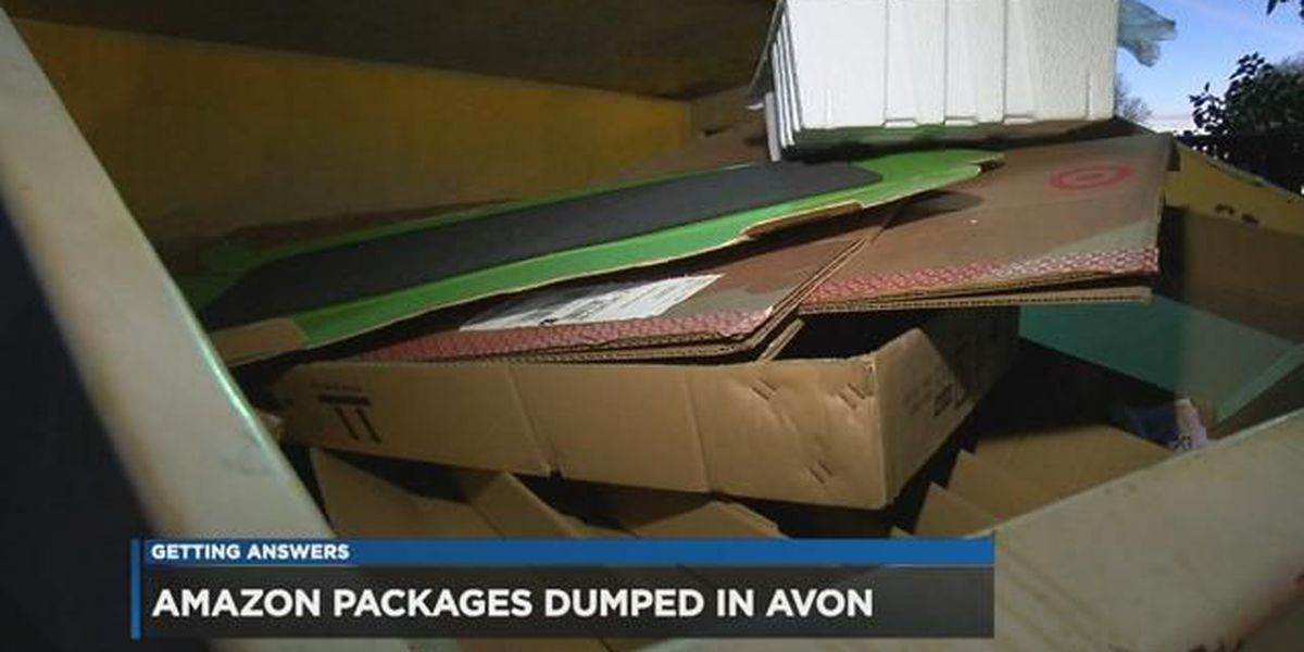 Amazon delivery Grinch inexplicably tosses packages in Avon woods, dumpster