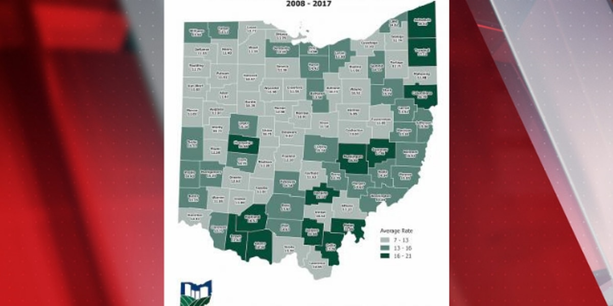 Suicide rate in Ohio increased by nearly 24% over last decade, study shows