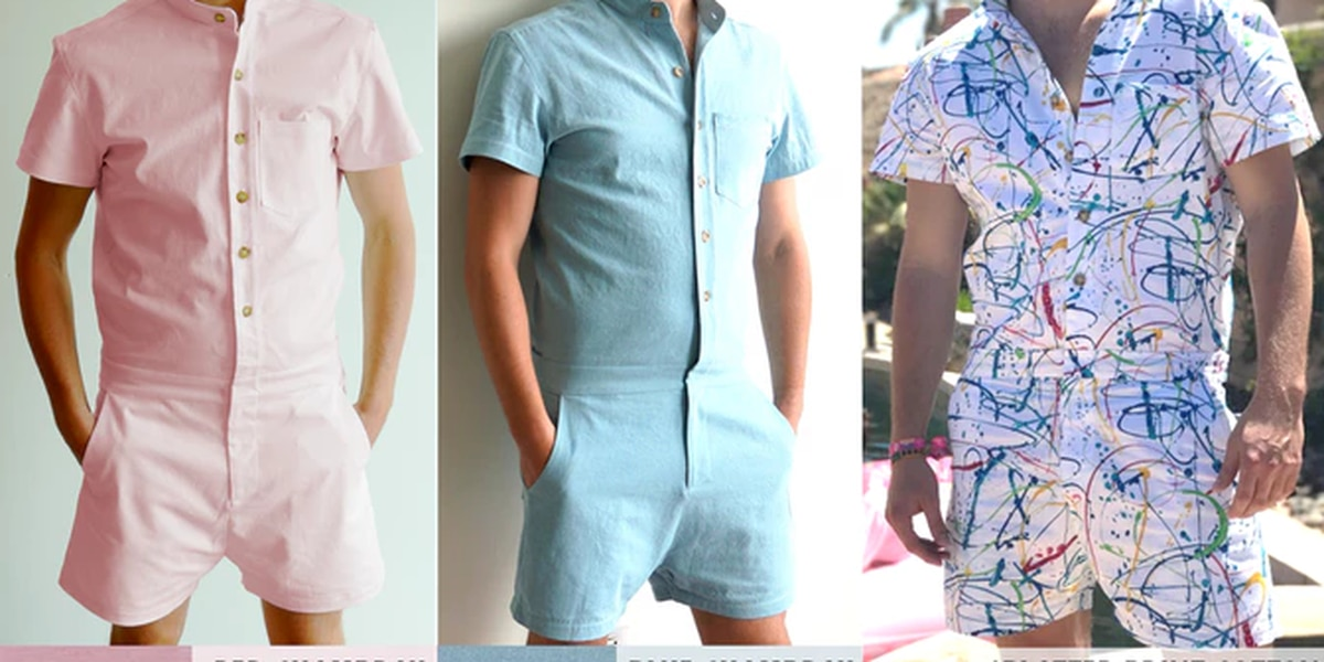 The male romper is the newest fashion item