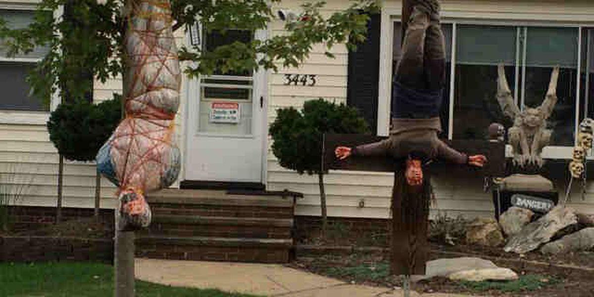 Some say Halloween display crosses a line