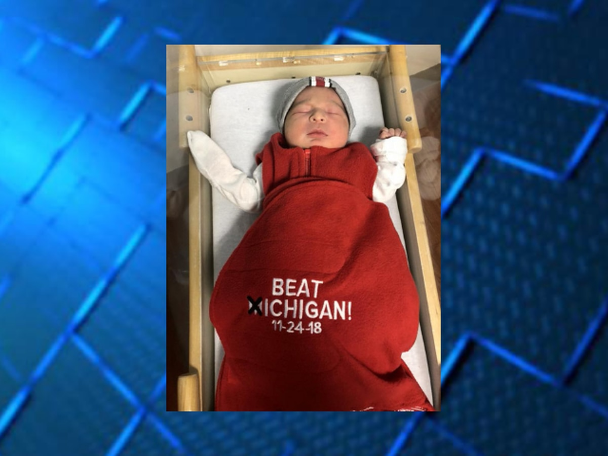 OSU hospital dresses newborn babies in Buckeyes gear before Michigan rivalry game