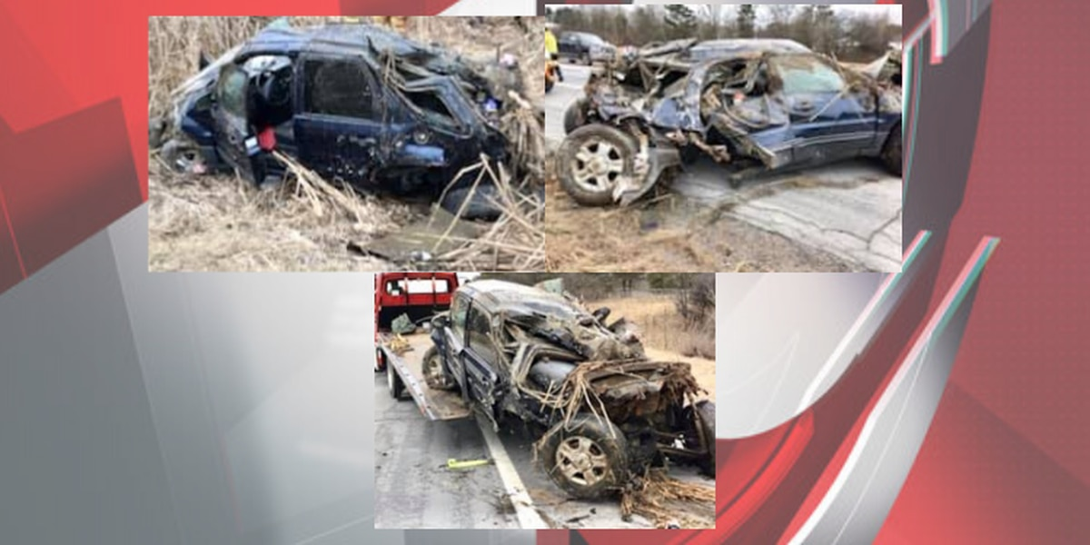 Twinsburg Fire Department says the seat belt saved the life of a driver involved in rollover crash