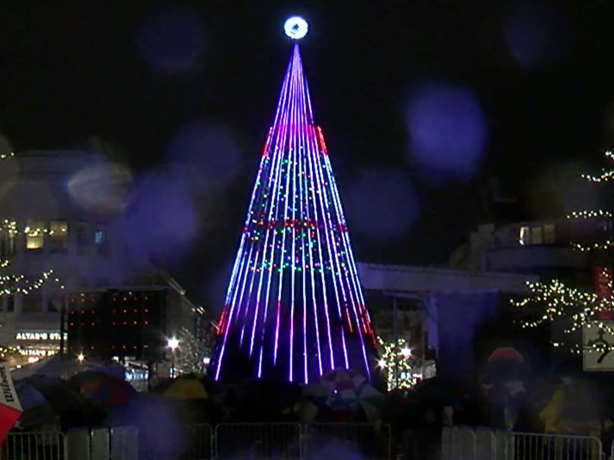 Crocker Park's 50-foot Christmas Tree is set to light up tonight