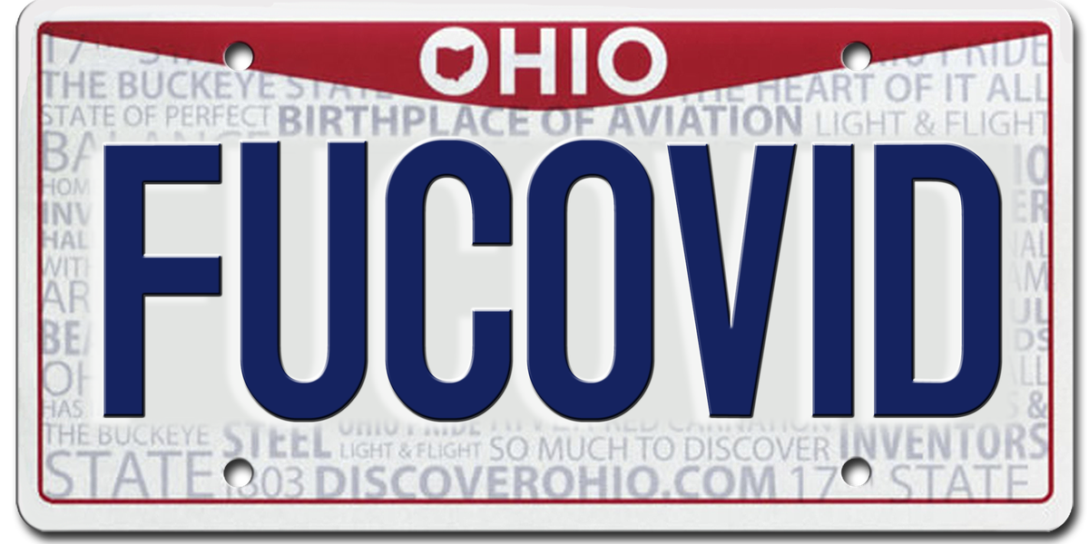 Hatred for COVID-19 included in list of 309 rejected Ohio vanity plates (graphic)