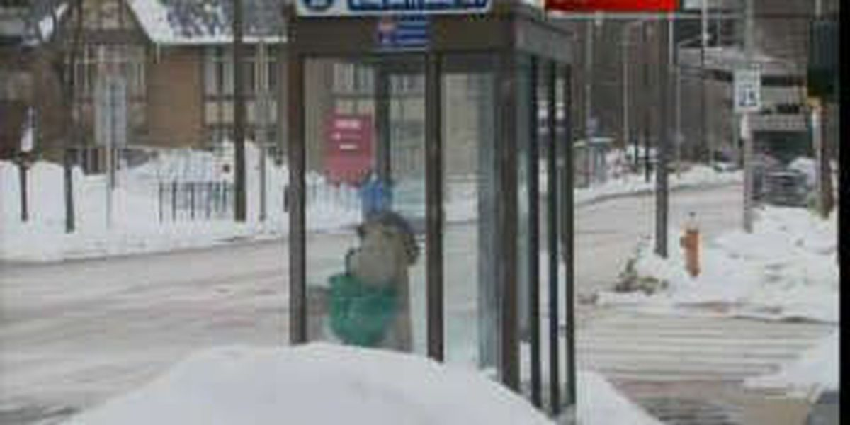 Bus riders frustrated over snow piling up at stops