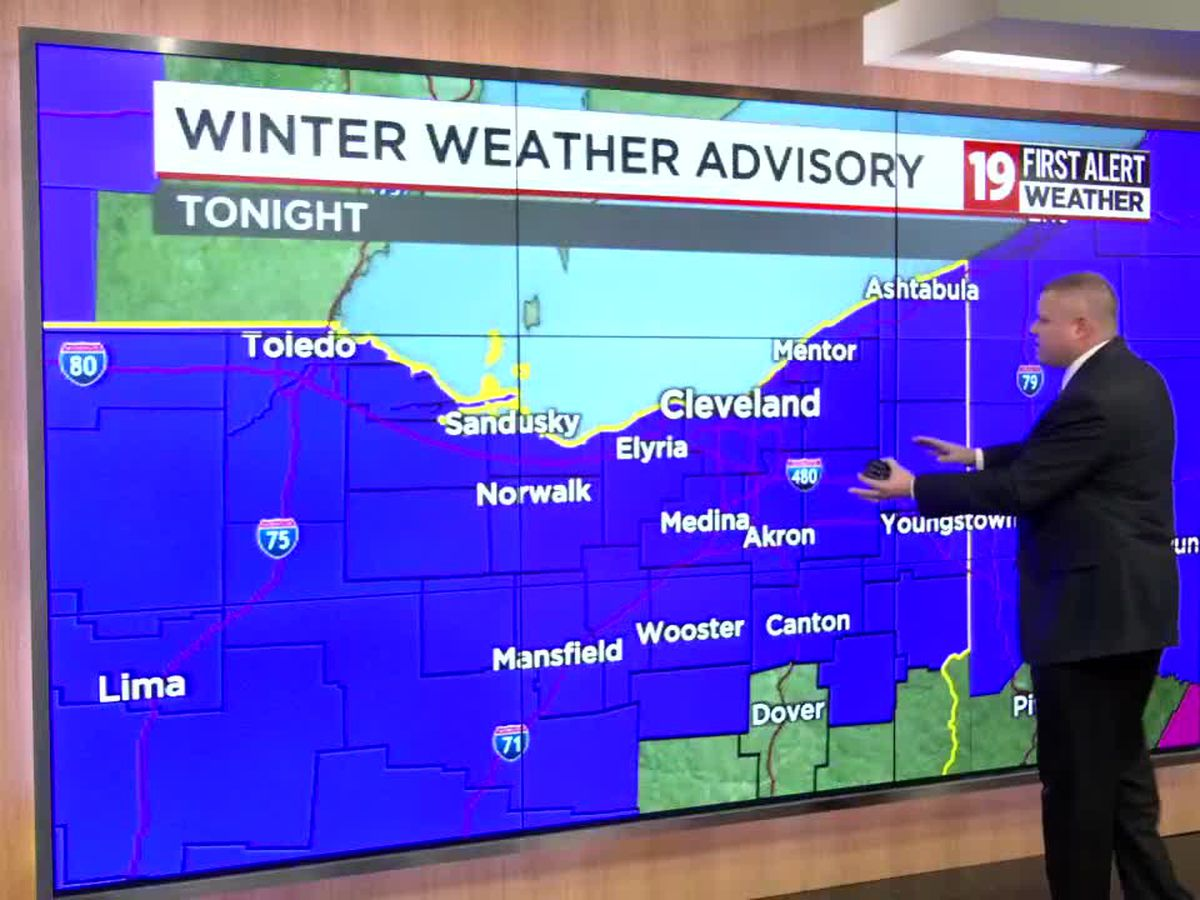 Disruptive Weather tonight: Light wintry mix develops through the evening, slick spots may occur