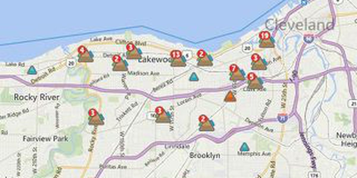 Less than 100 without power in Cuyahoga County