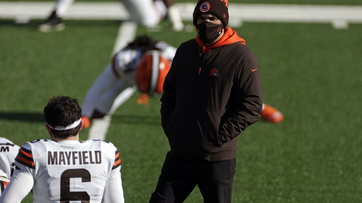 Cleveland Browns coach Stefanski holds end-of-season press conference following playoffs loss