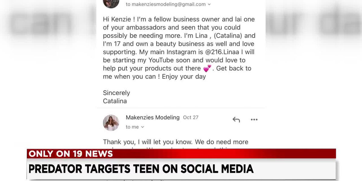Local teen warns of child predator possibly posing as cosmetics company on social media