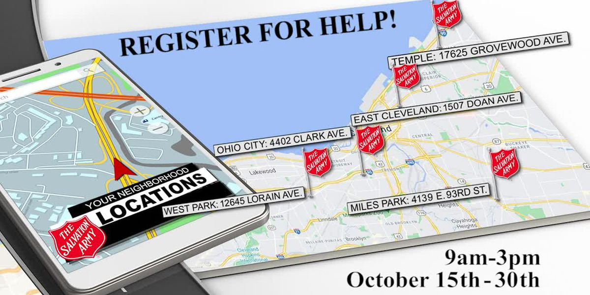 Salvation Army - Register for help!