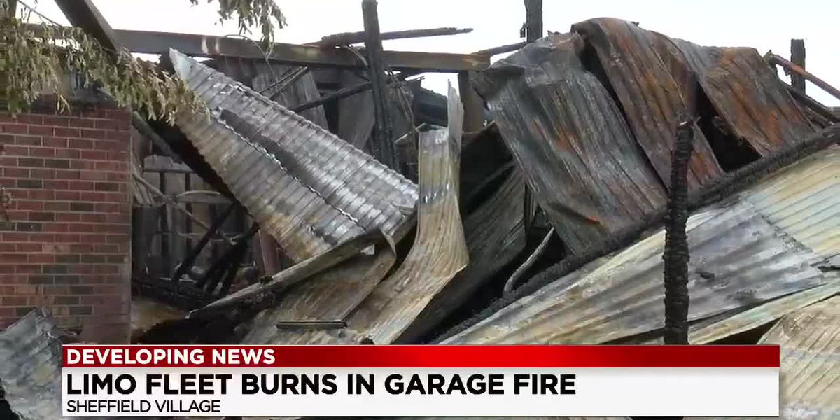Business community rallies for Sheffield Village limo company after devastating fire (drone video)