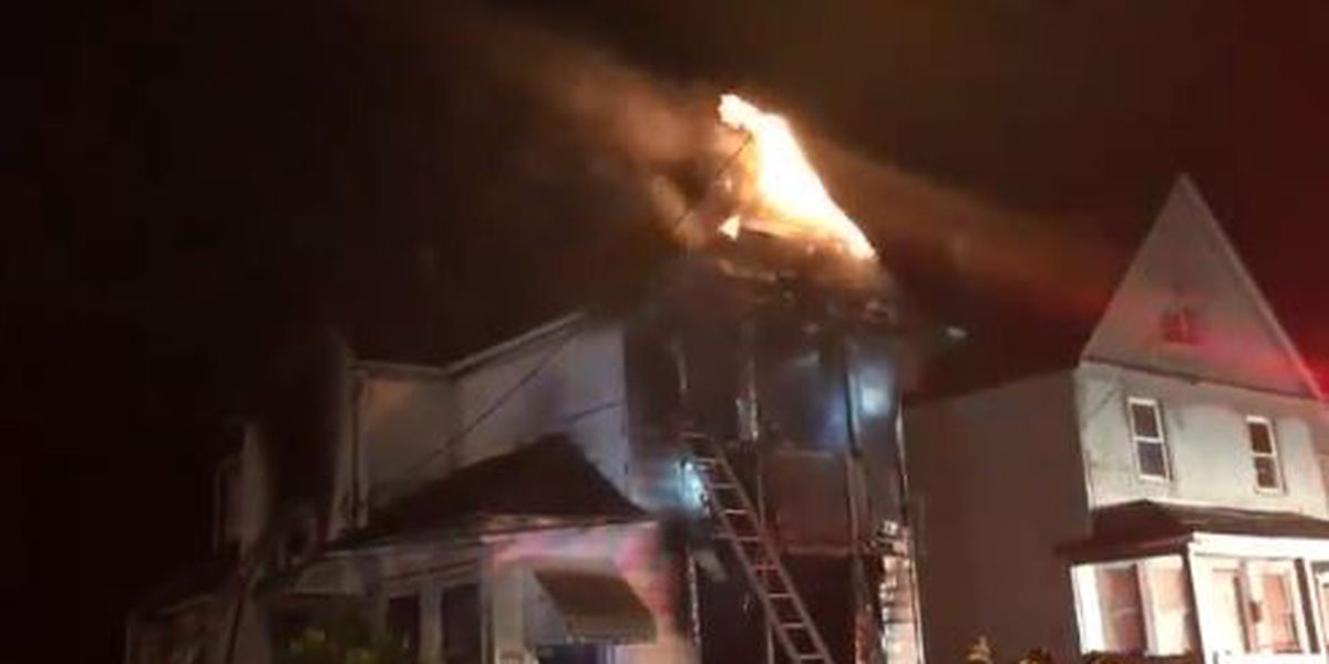 Cleveland firefighters douse raging house fire on city's East side