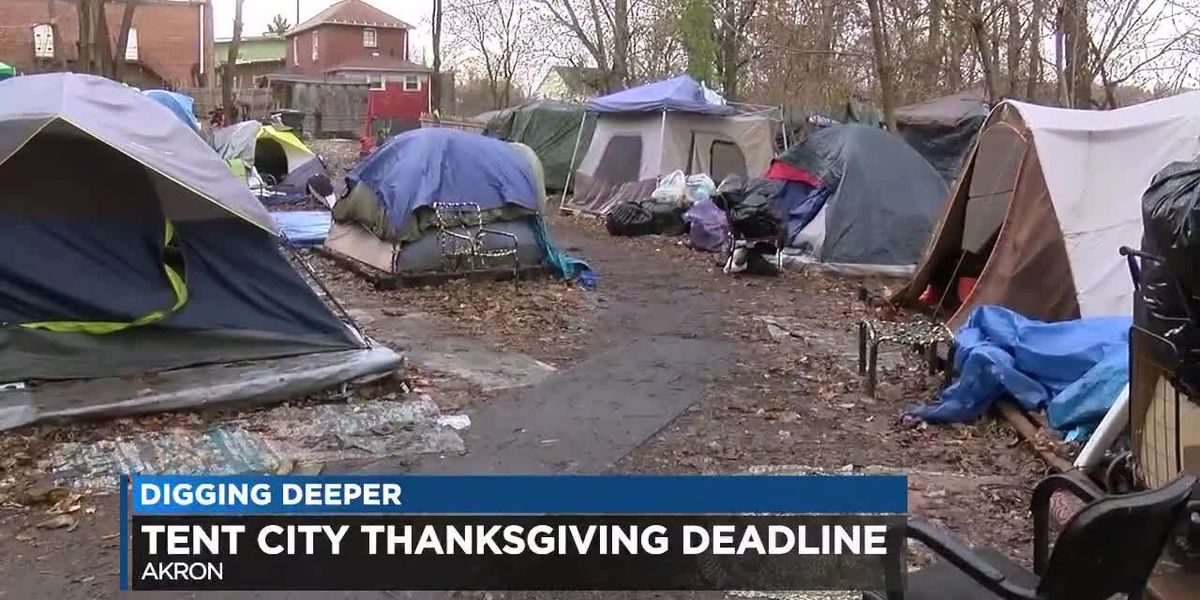 Akron tent city scheduled to vanish by Thanksgiving