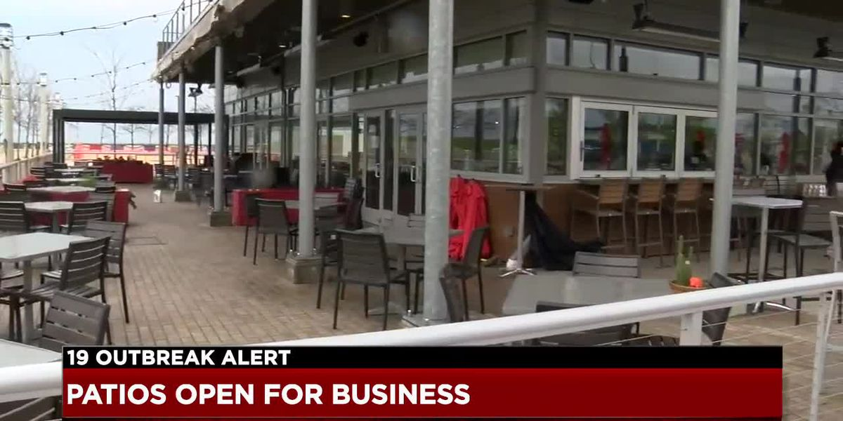 Patio dining opens up in Ohio with soft seating removed, disposable menus