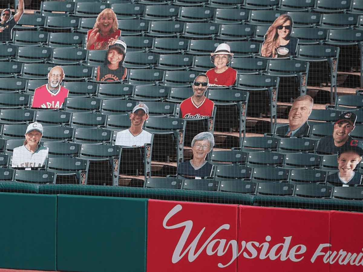 Fan cutouts for Progressive Field stands during the Cleveland Indians season sell out in 48 hours