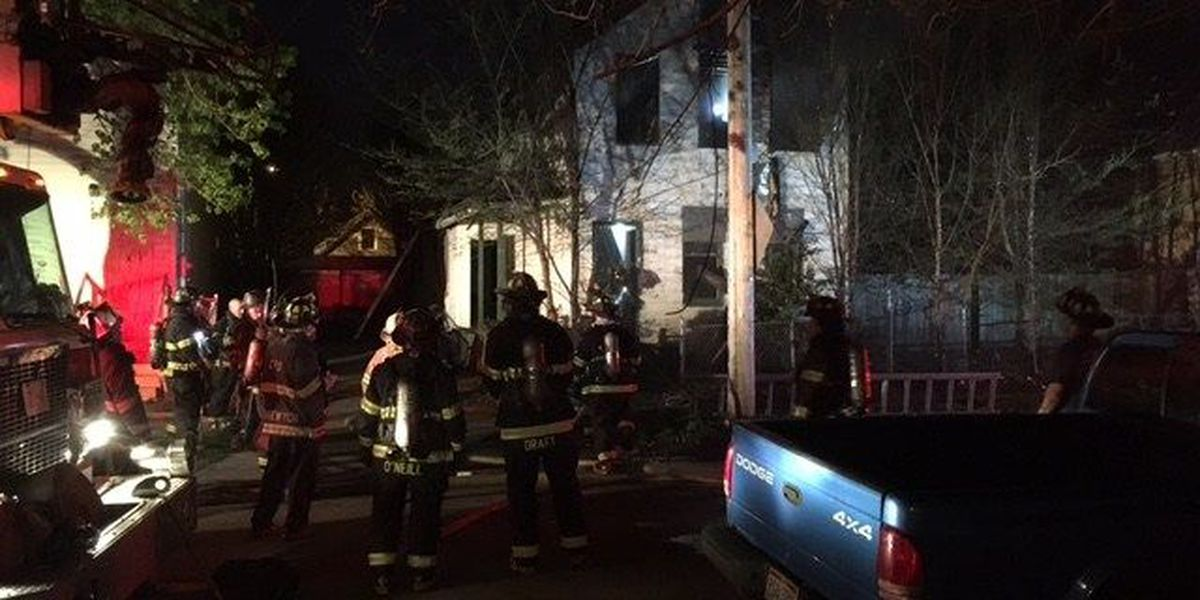 Cleveland home goes up in flames on city's west side