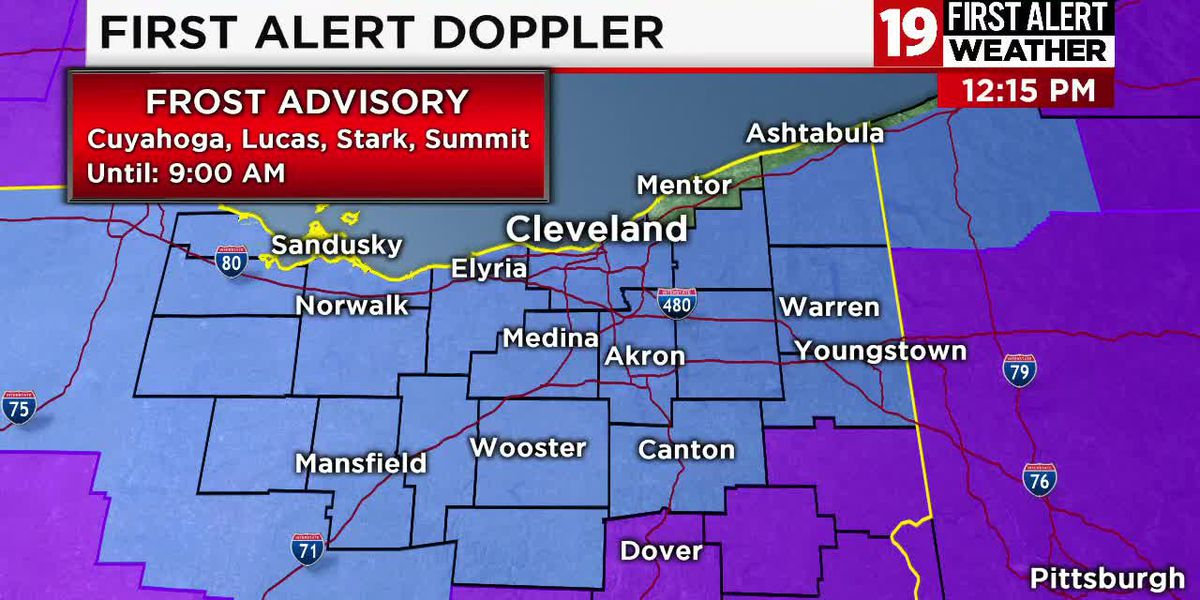 Northeast Ohio weather: Freeze Warning in effect tonight, significant warming on the way by Thursday