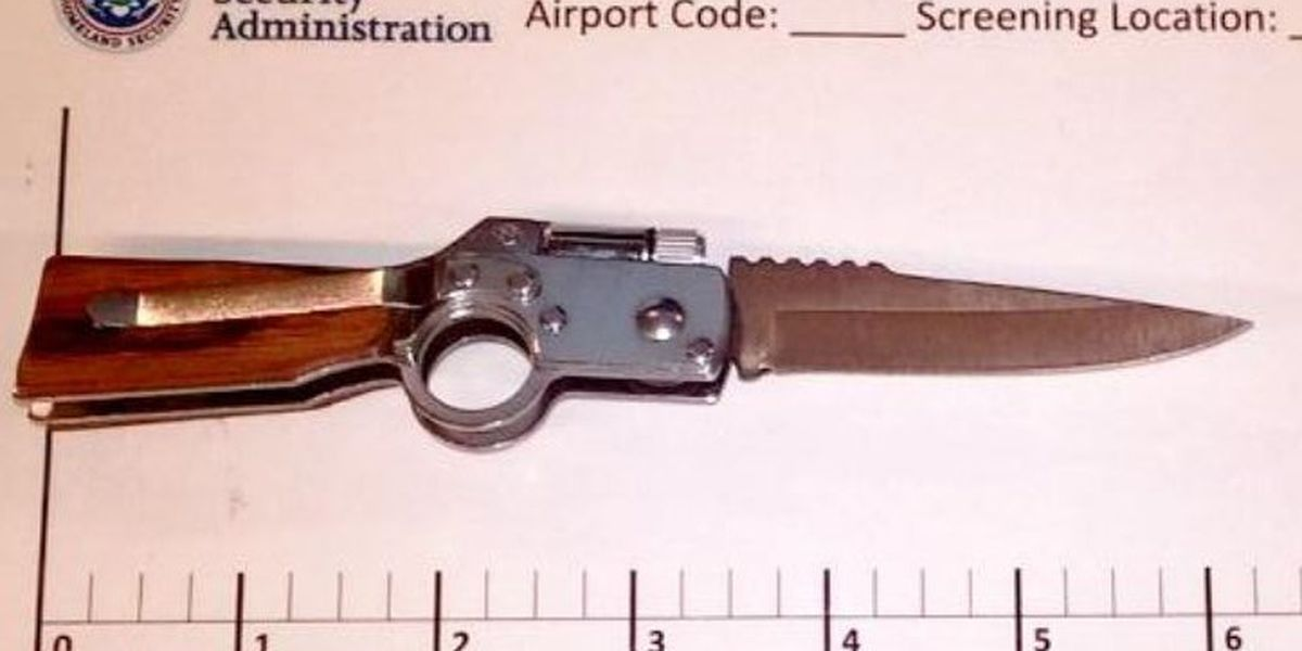 TSA stops passenger with a knife...shaped like a gun...trying to board a plane