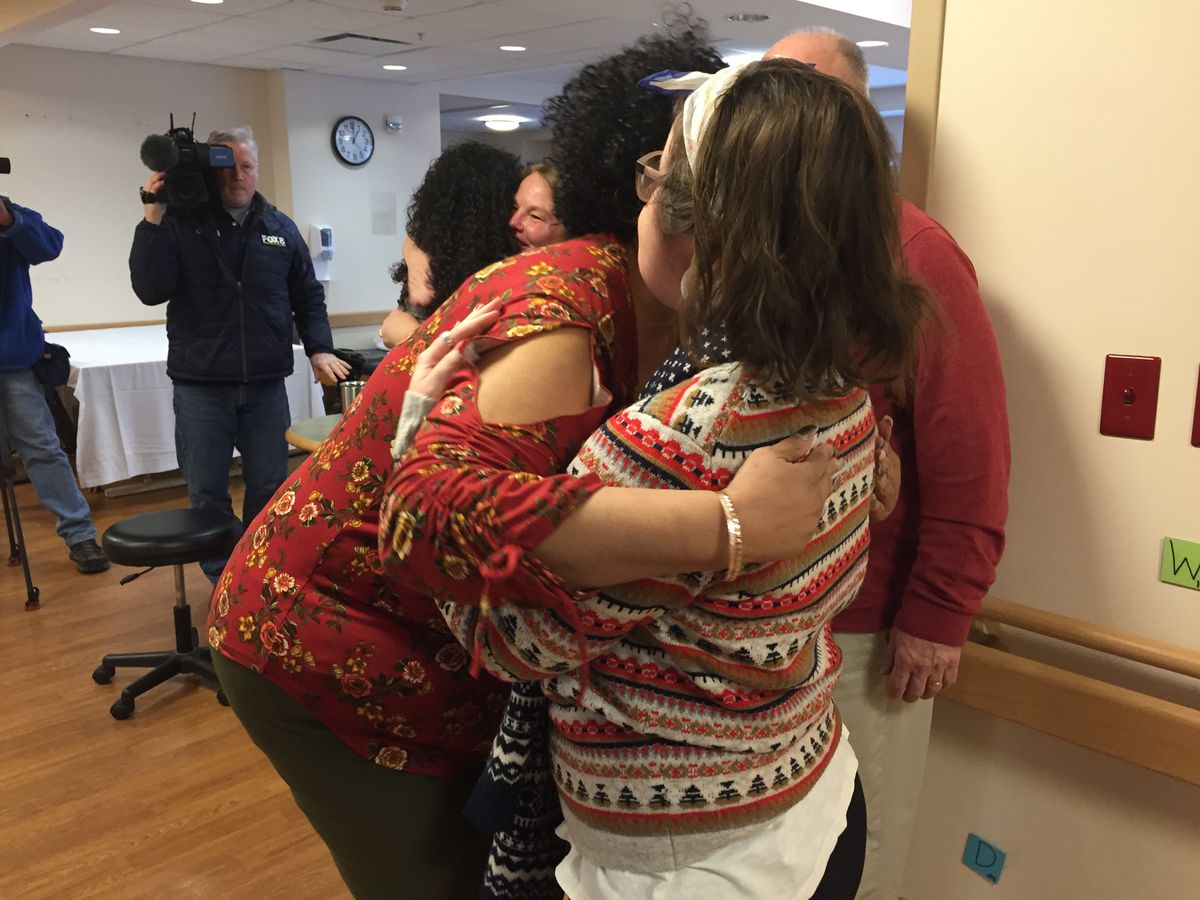 Face transplant recipient reunites with rehab staff at MetroHealth, says she is grateful for prayers and support