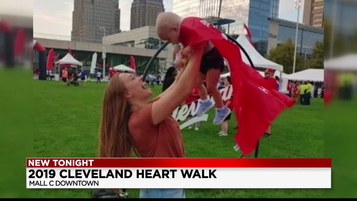 "1-year-old girl named ""Queen of Hearts"" during 26th Cleveland Heart Walk"