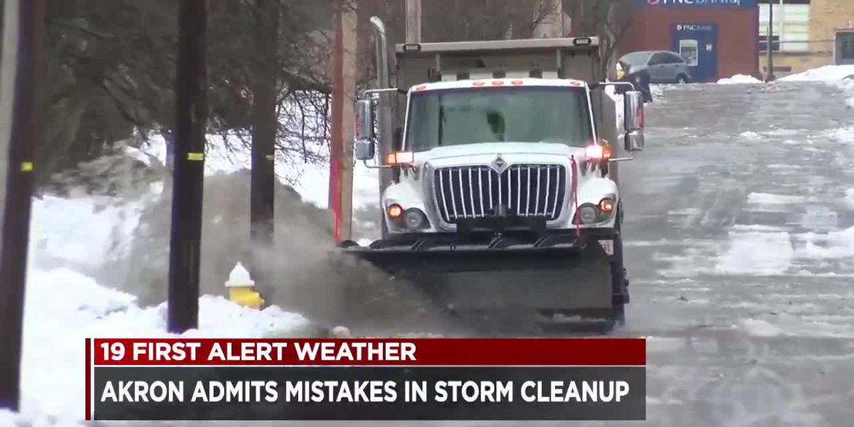 Akron admits mistakes in storm cleanup