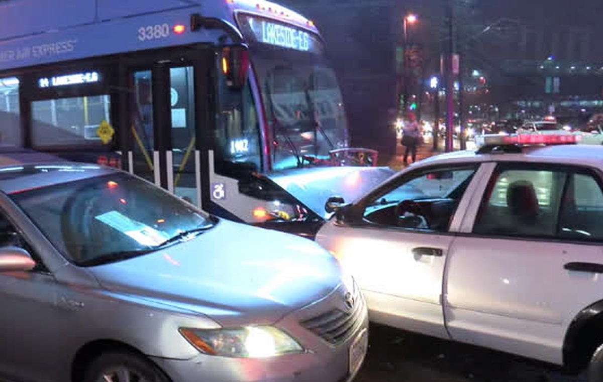 Rta Bus Cleveland Police Cruiser Collide Downtown