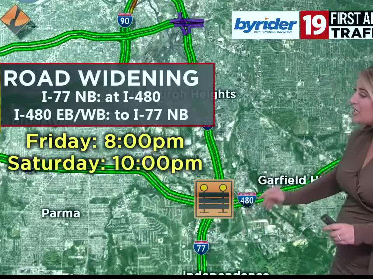 I-77 NB closing for construction work on Friday night