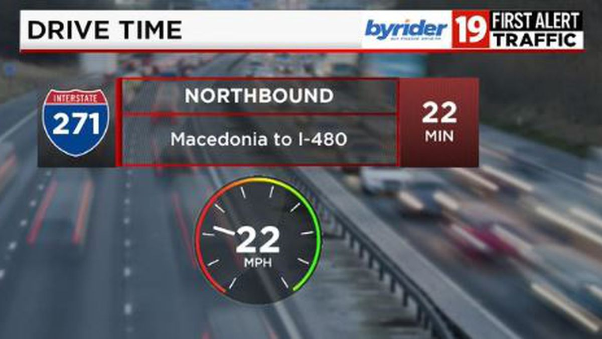 Update: I-271 northbound from Macedonia slowing down considerably