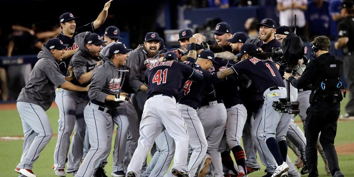 Here are a bunch of GIFs of the Indians celebrating their AL championship win