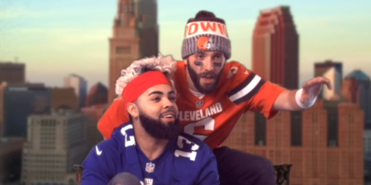 Browns fans send Baker Mayfield, Odell Beckham Jr. on Cleveland carpet ride in 'Aladdin' parody