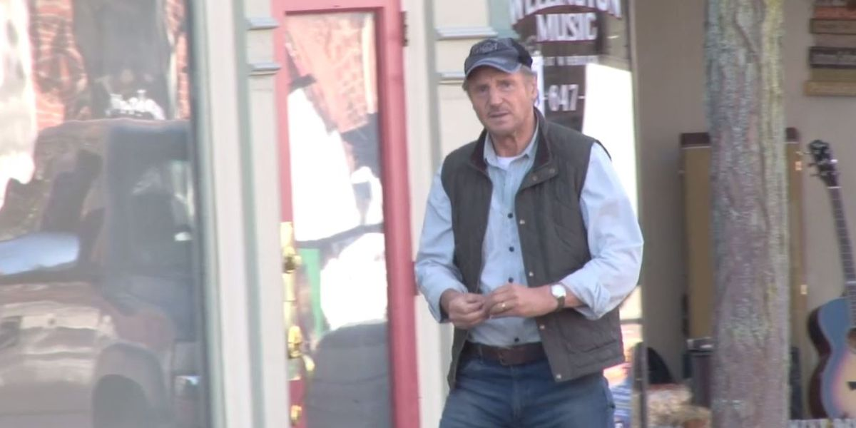 Actor Liam Neeson spotted in Wellington for upcoming film 'Minuteman'