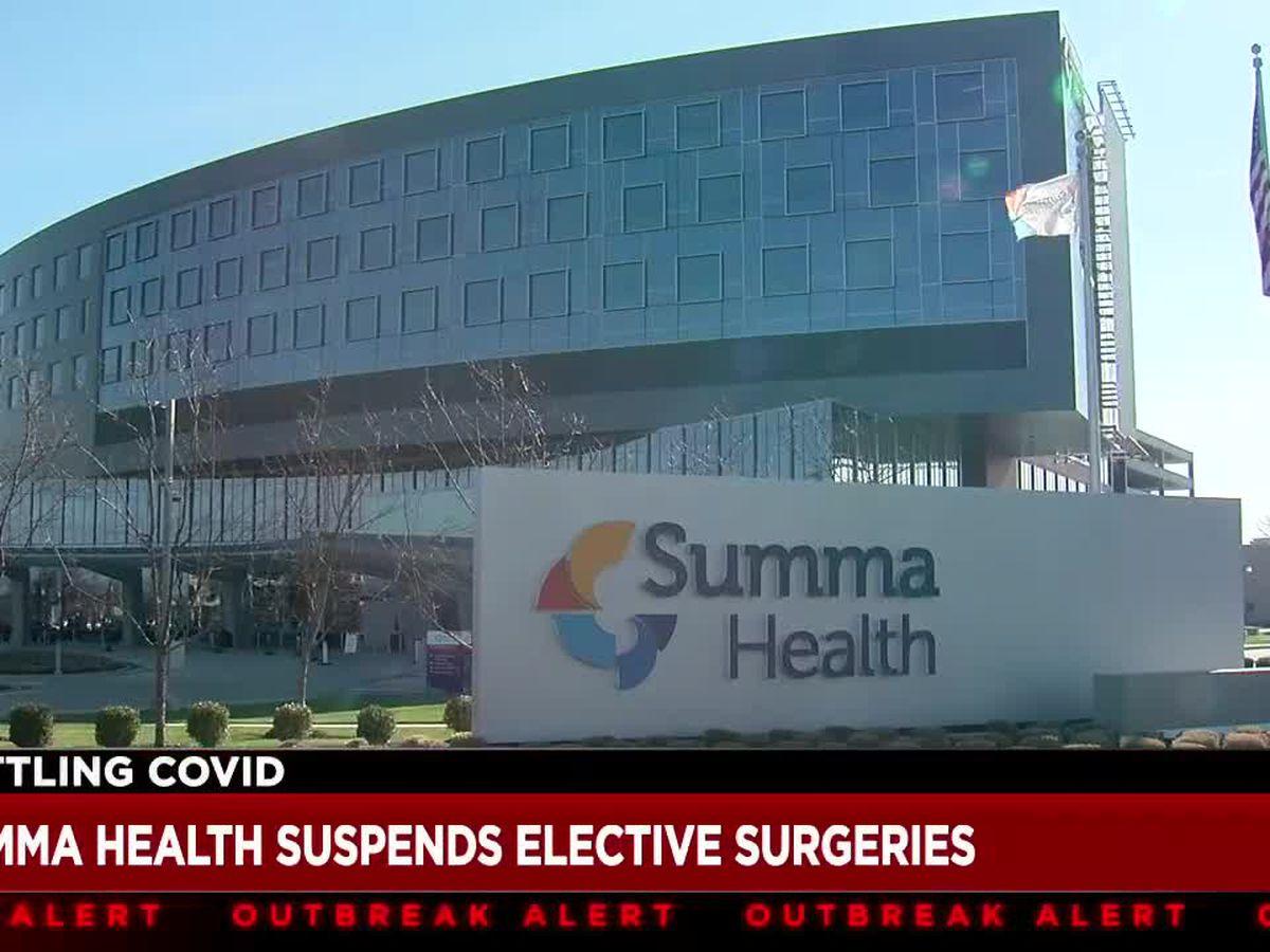 Summa Health to suspend most elective surgeries due to COVID-19 surge
