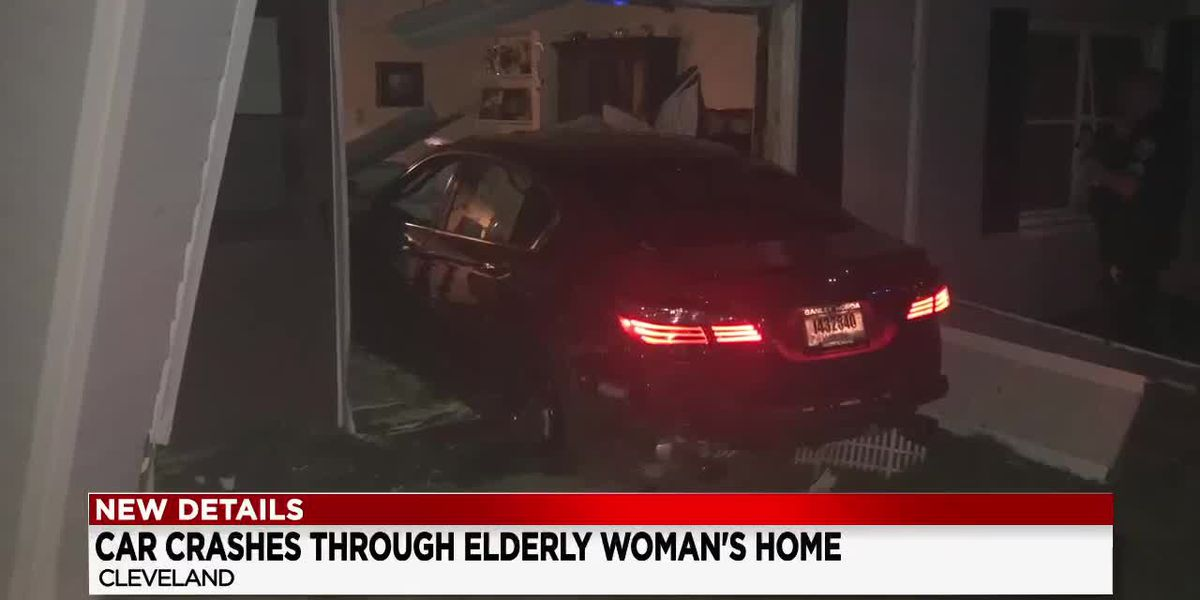 Suspected drunk driver rams into 81-year-old grandmother's home in Cleveland