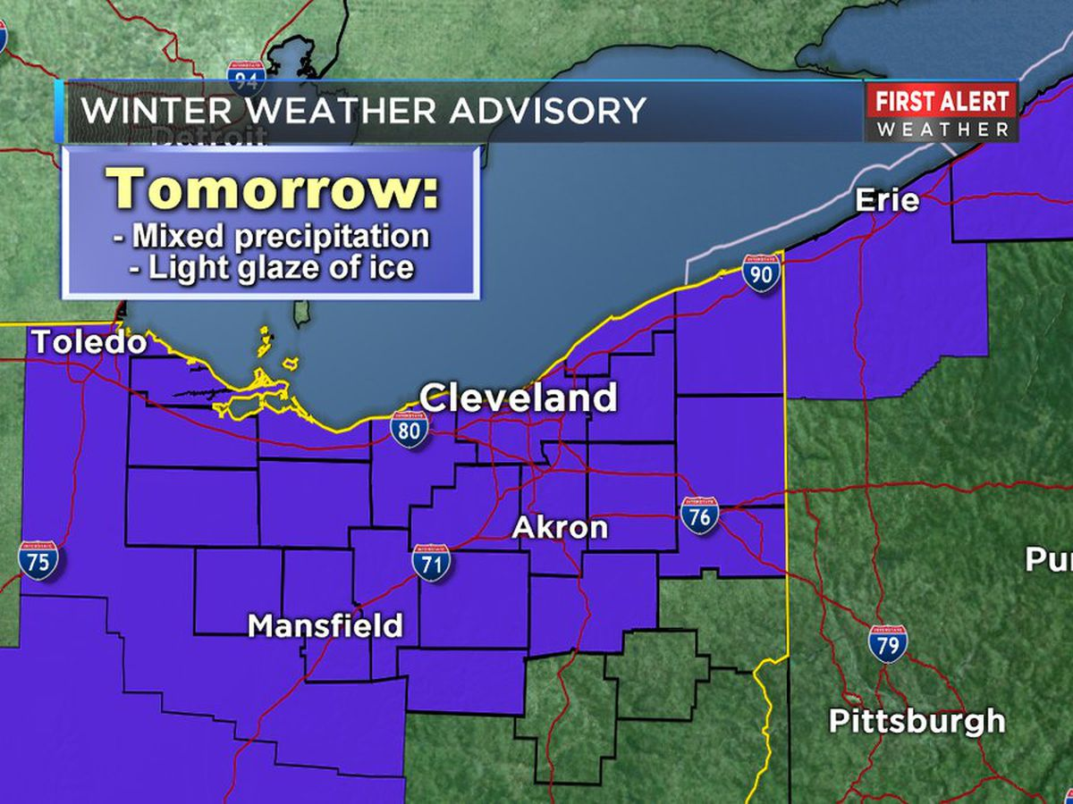 Winter weather advisory issued for Northeast Ohio with threat of snow, icy roads