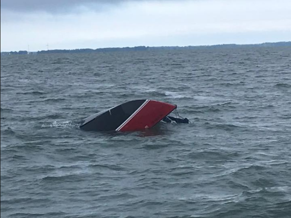 Man hangs onto capsized boat for 12 hours, rescued by U.S. coastguard in Marblehead