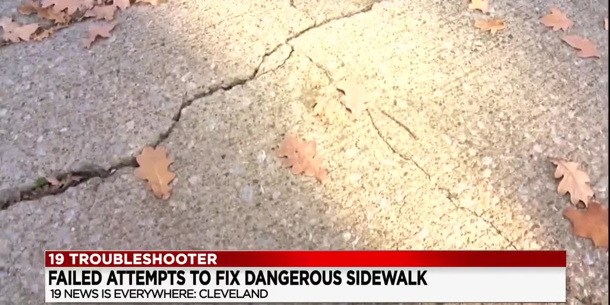 Cleveland woman wants city to fix damaged sidewalk but they're denying her claims, saying it's on her