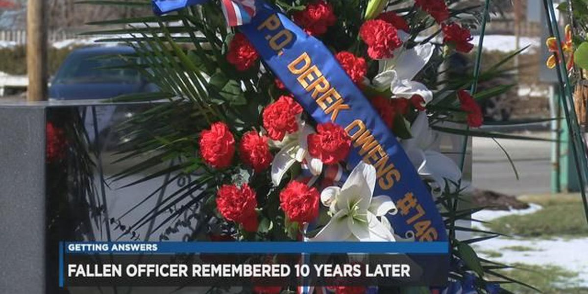 10 years later: family and friends gather to remember Officer Derek Owens