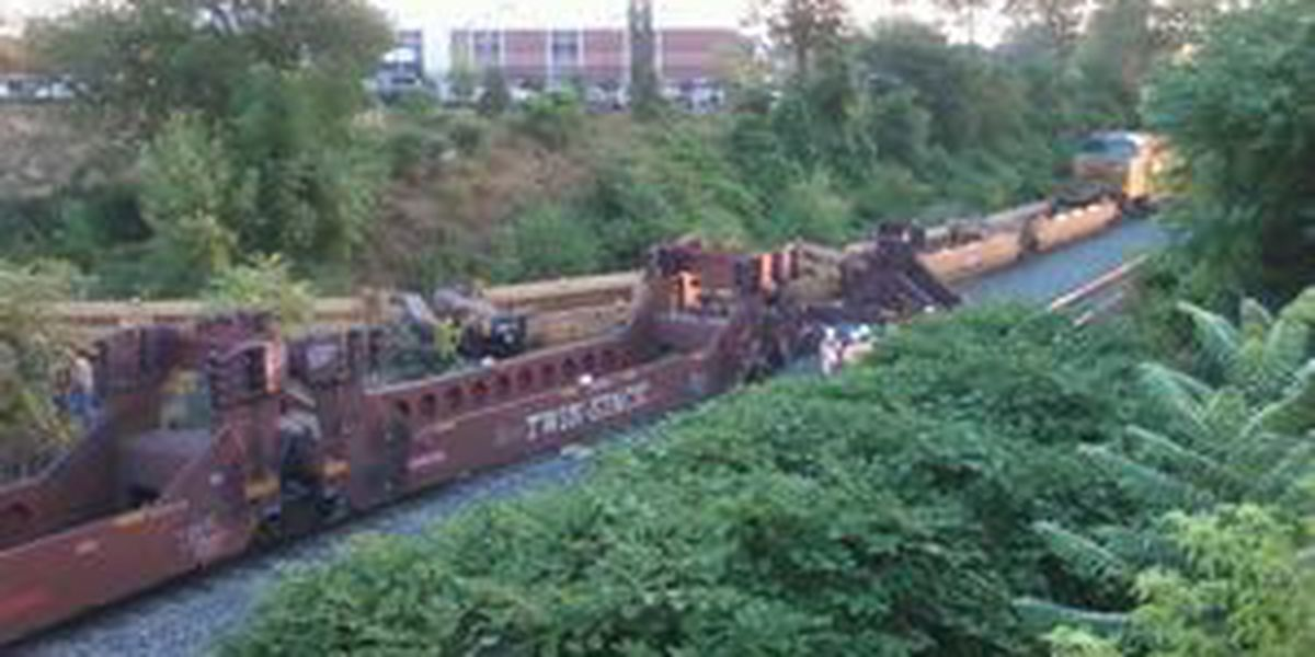 Trains collide in downtown Akron