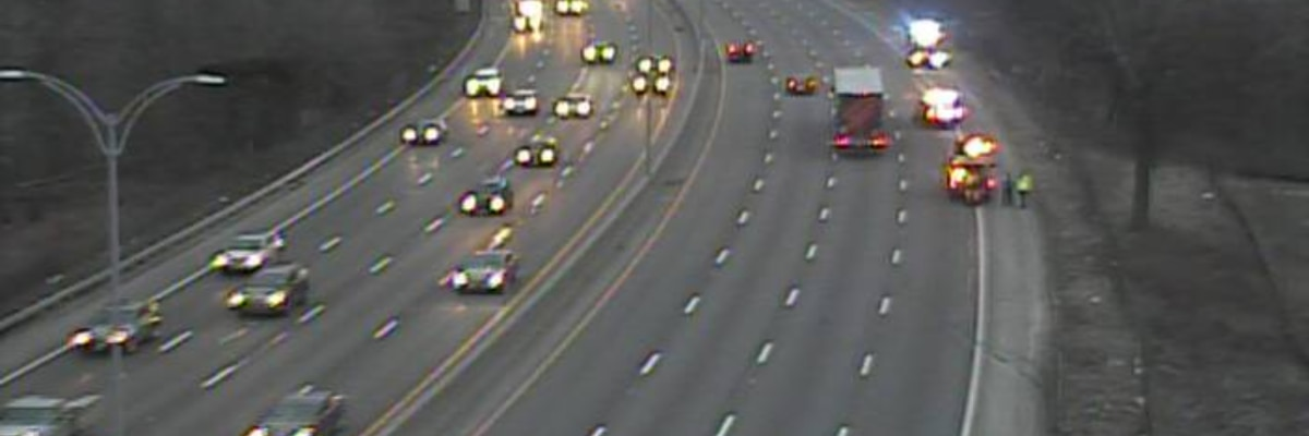 Traffic on I-90 clears after early morning crashes