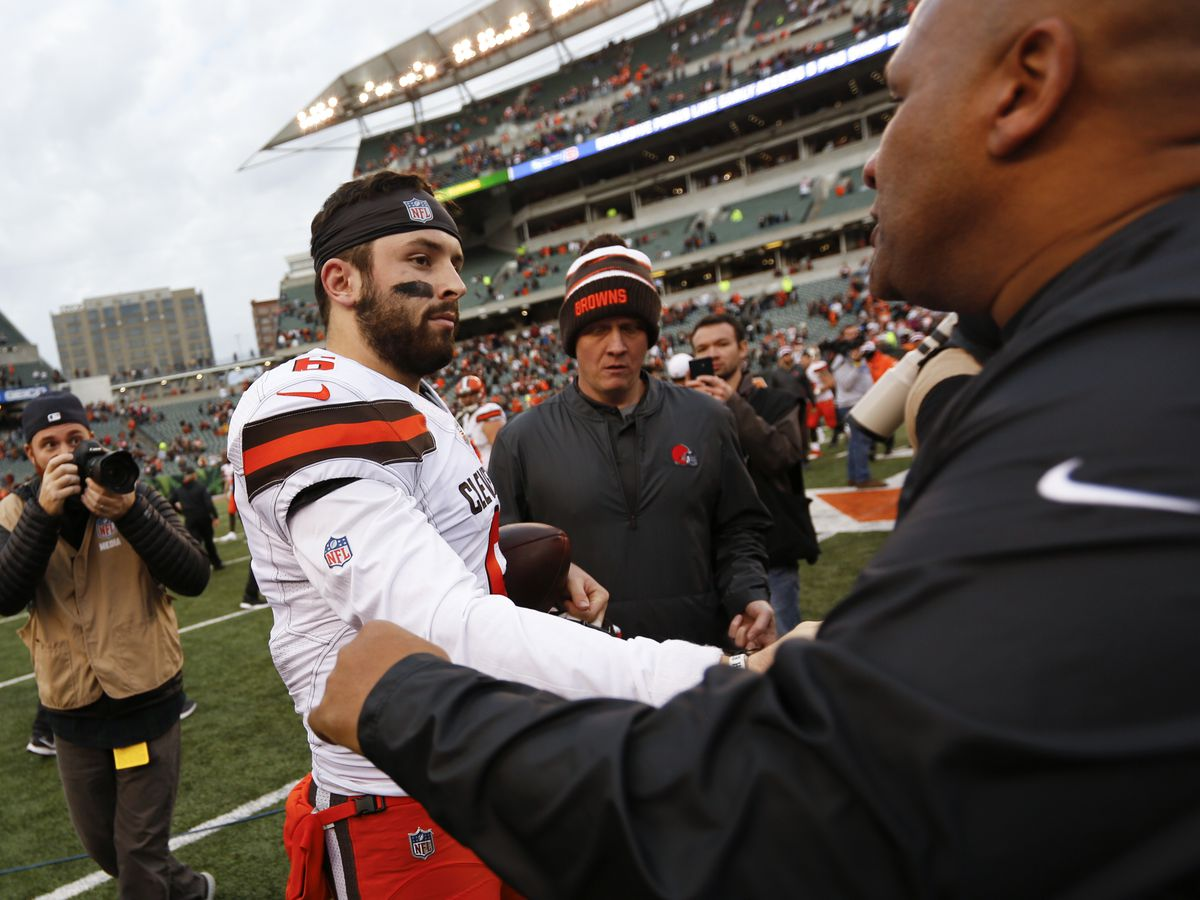 Baker Mayfield takes another jab at former Browns head coach Hue Jackson