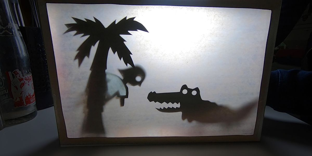Family craft time! How to make a Shadow Theater
