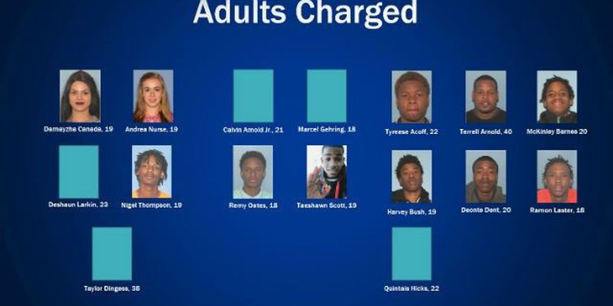 Dozens arrested, accused in string of gang-related crimes