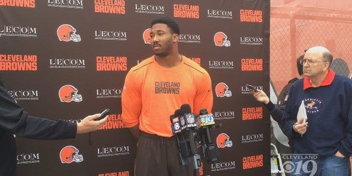 Myles Garrett says he is in good hands with the Cleveland Browns