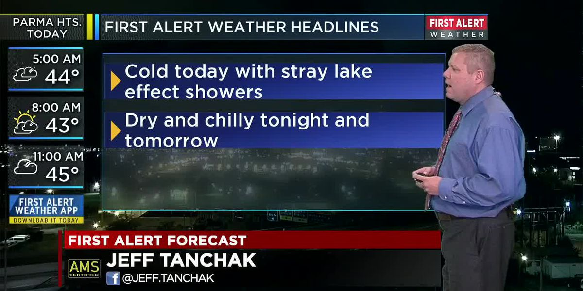 Northeast Ohio weather: Cold with a little lake effect rain