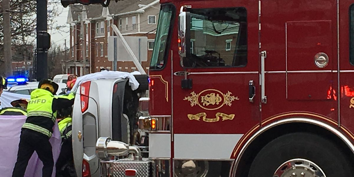 Emergency crews respond to car wreck in Shaker Heights