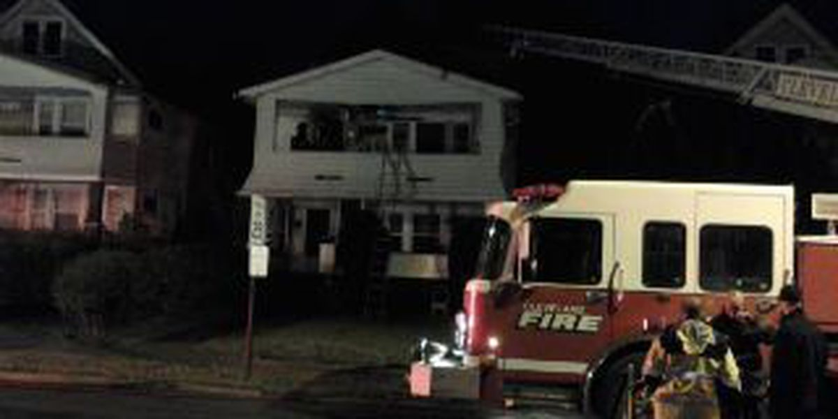 Cleve. Firefighters battle housefire with possible rescue