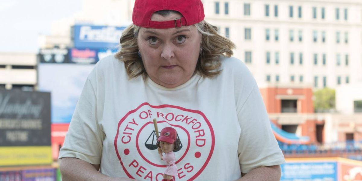 'A League of Their Own's' Marla Hooch looks exactly as you remember during Akron visit