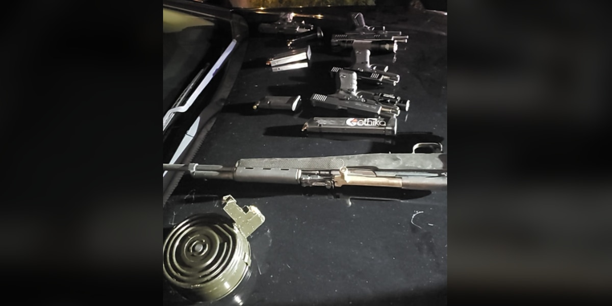 East Cleveland Police take 2 boys, 2 men into custody for brandishing firearms after finding 5 guns car