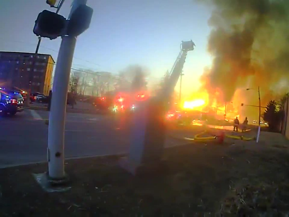 Dash, body camera footage shows up-close intensity of weekend fire in Rocky River