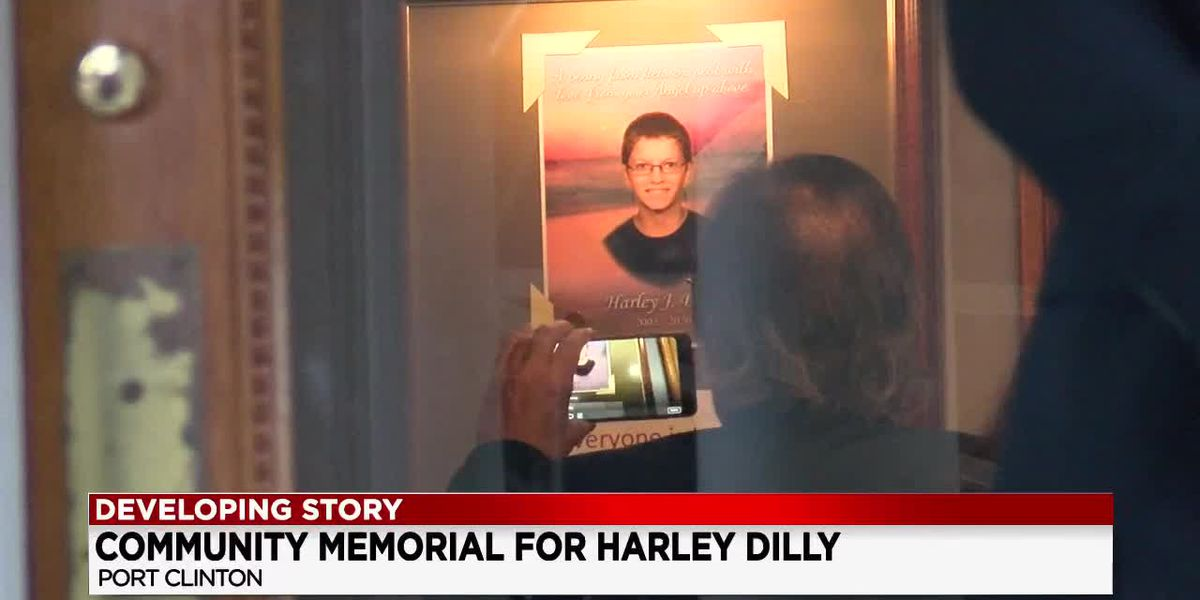 Hundreds turn out in Port Clinton to pay respects to Harley Dilly